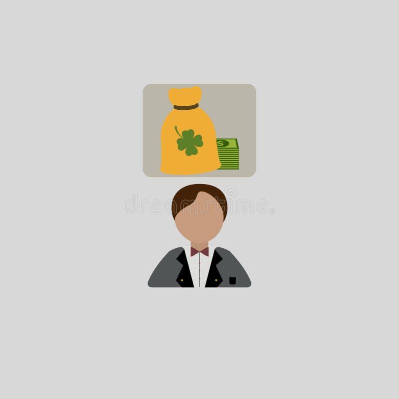 Biznesmen marzy o pieniądze również zwrócić corel ilustracji wektora 10 eps ilustracja wektor