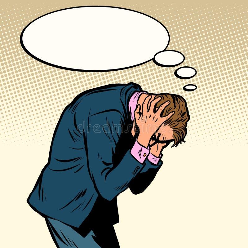 biznesmen migren? royalty ilustracja