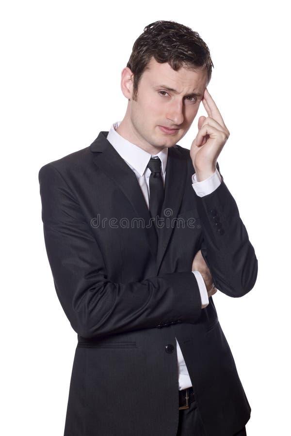 biznesmen migrena zdjęcia stock
