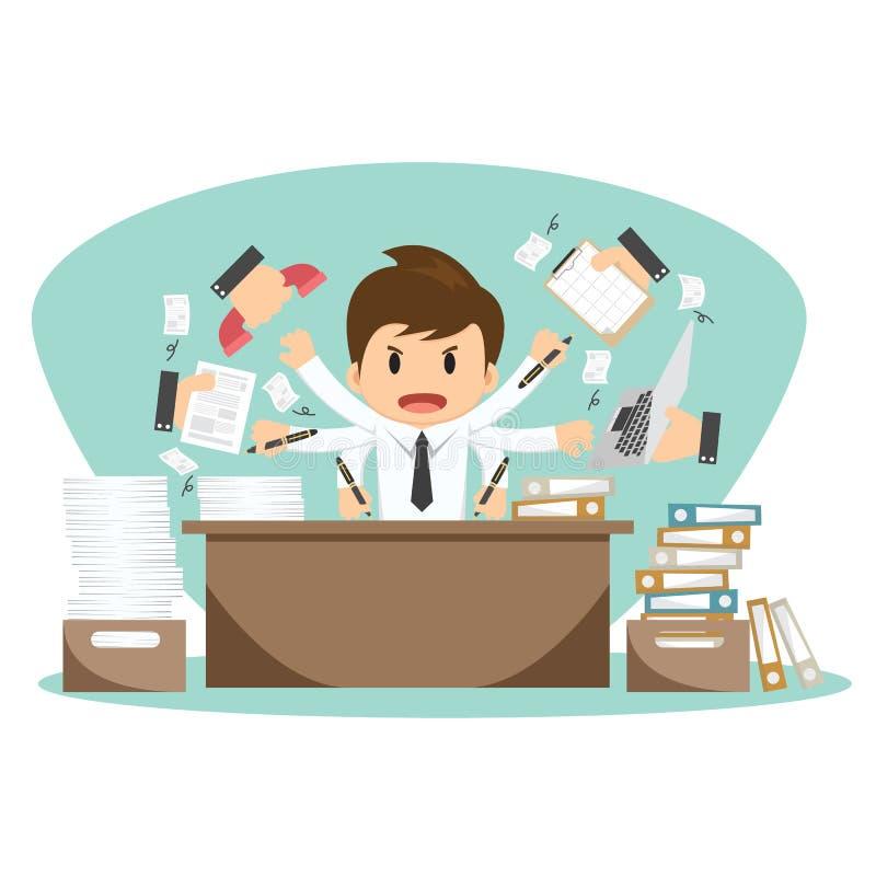 Biznesmen na urzędnika wektoru ilustraci ilustracja wektor