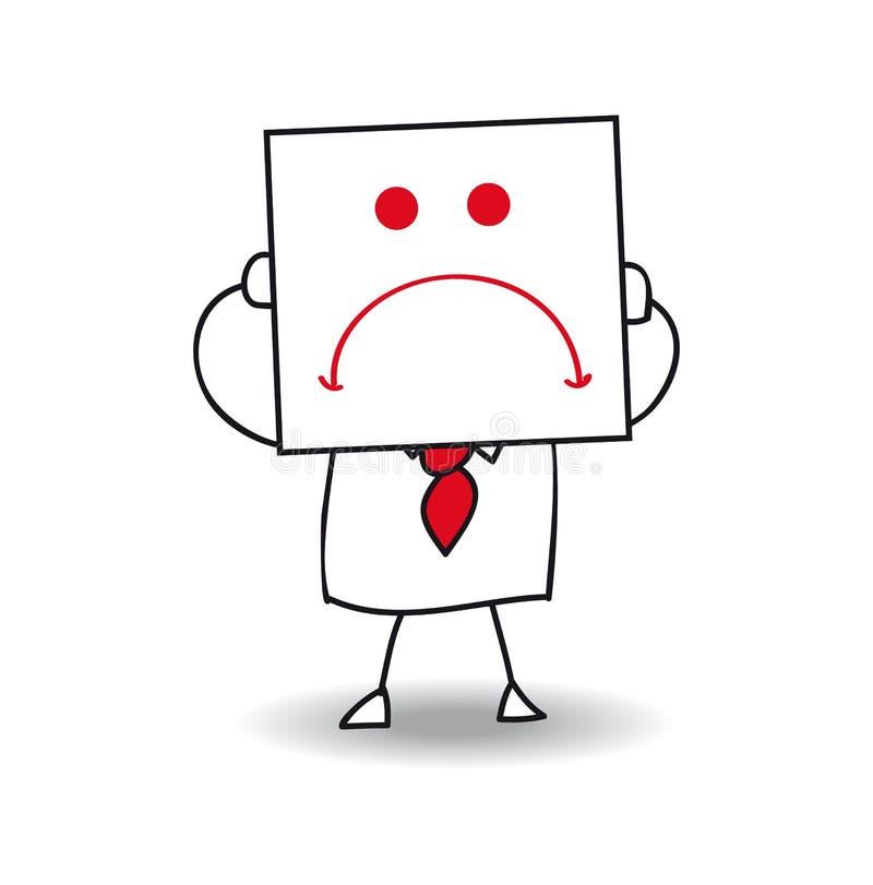 biznesmen nieszczęśliwy ilustracja wektor