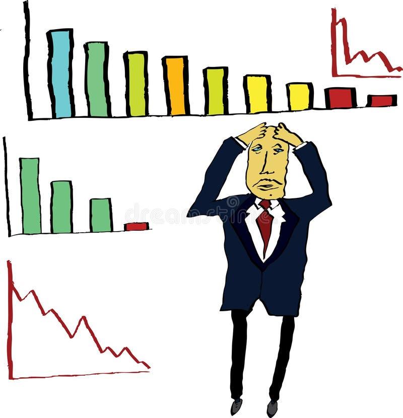 biznesmen nieszczęśliwy royalty ilustracja