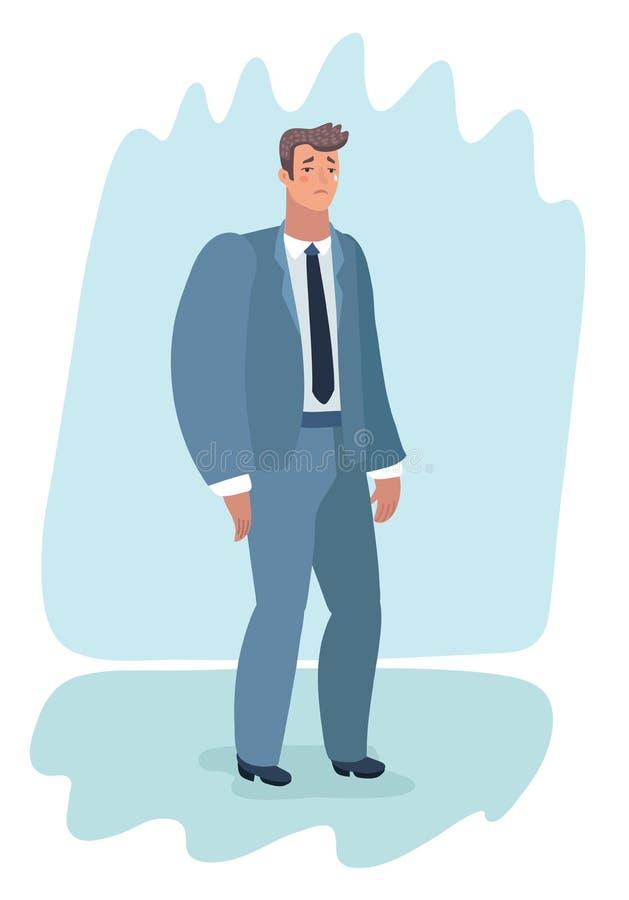Biznesmen nieudana komunikacyjna robi zimna sprzedaż royalty ilustracja