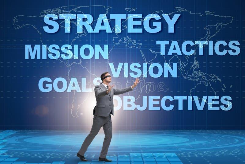 Biznesmen no może rozumieć korporacyjną strategię obrazy stock