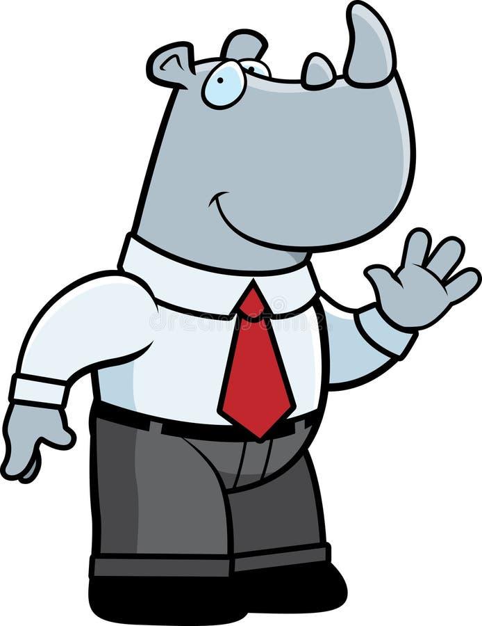 biznesmen nosorożec ilustracja wektor
