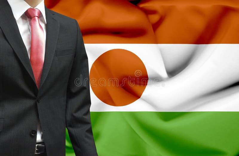 Biznesmen od Niger konceptualnego wizerunku zdjęcia stock