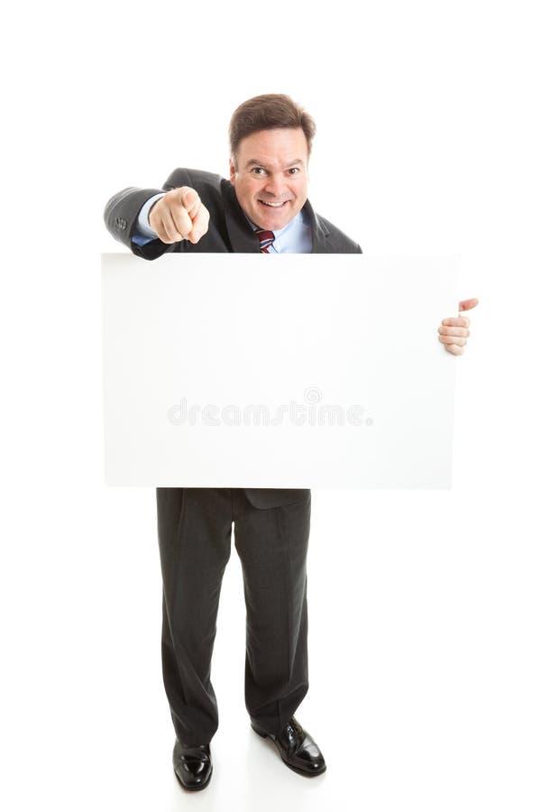 biznesmen odizolowywający fotografii znaka zapas zdjęcia stock
