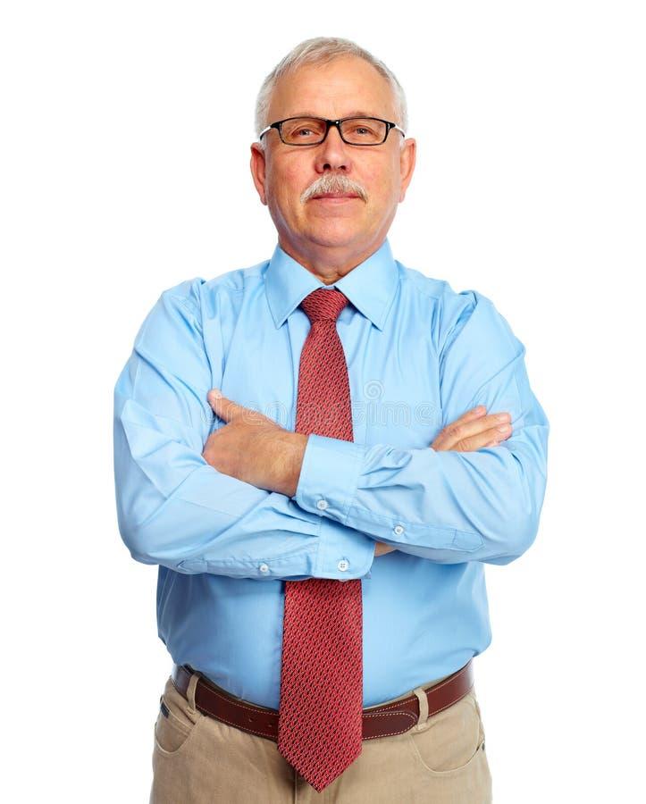 Biznesmen odizolowywający na bielu. zdjęcia royalty free