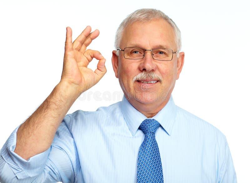 Biznesmen odizolowywający na bielu. zdjęcie royalty free