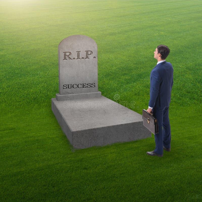 Biznesmen opłakuje śmierć sukces obrazy stock