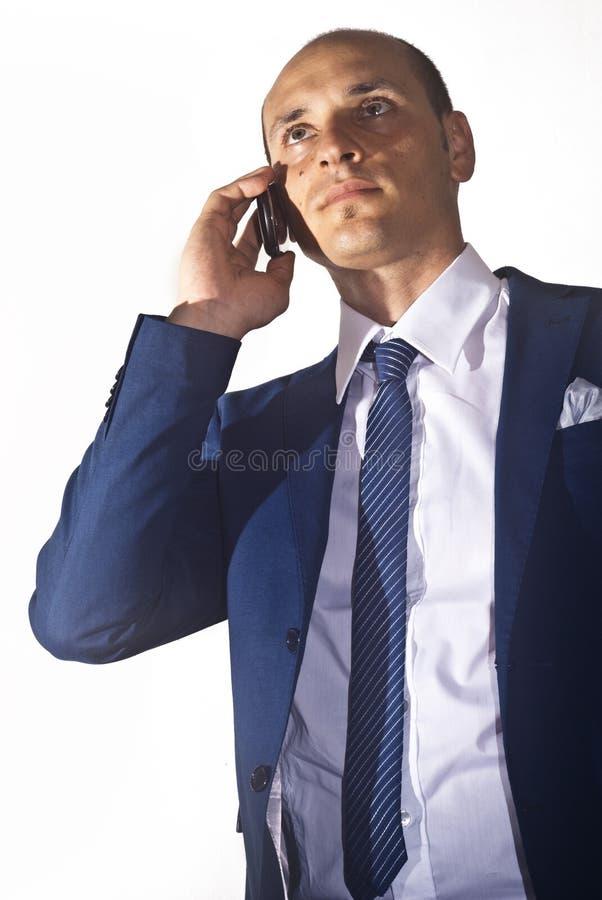 Biznesmen opowiada na telefonie fotografia royalty free