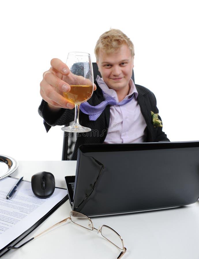 biznesmen pijący obraz stock