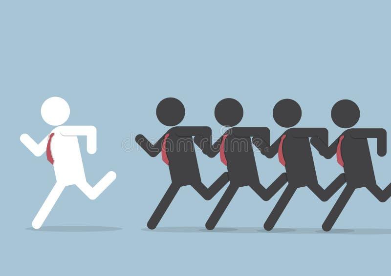 Biznesmen po lider royalty ilustracja