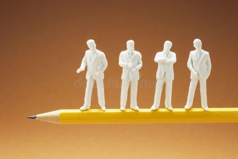 Biznesmen postacie na ołówku zdjęcia stock