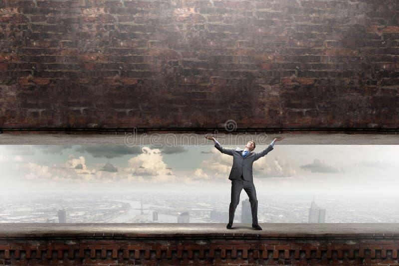 biznesmen potężny zdjęcia stock