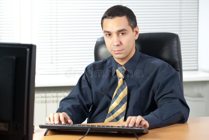 biznesmen poważny zdjęcia stock