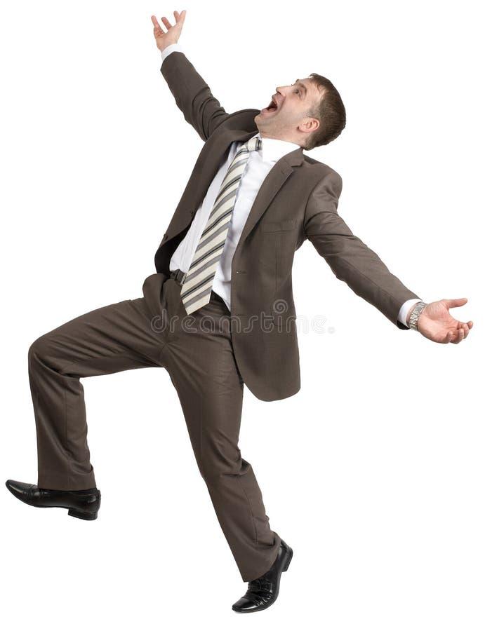 Download Biznesmen Pozuje Z Rękami Podnosić Obraz Stock - Obraz złożonej z biznesmen, dojeżdżający: 65225149
