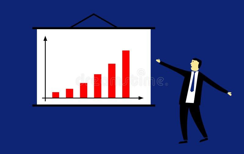Biznesmen przedstawia sukces zdjęcie stock