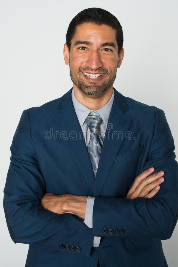 Biznesmen przy biurem obrazy royalty free
