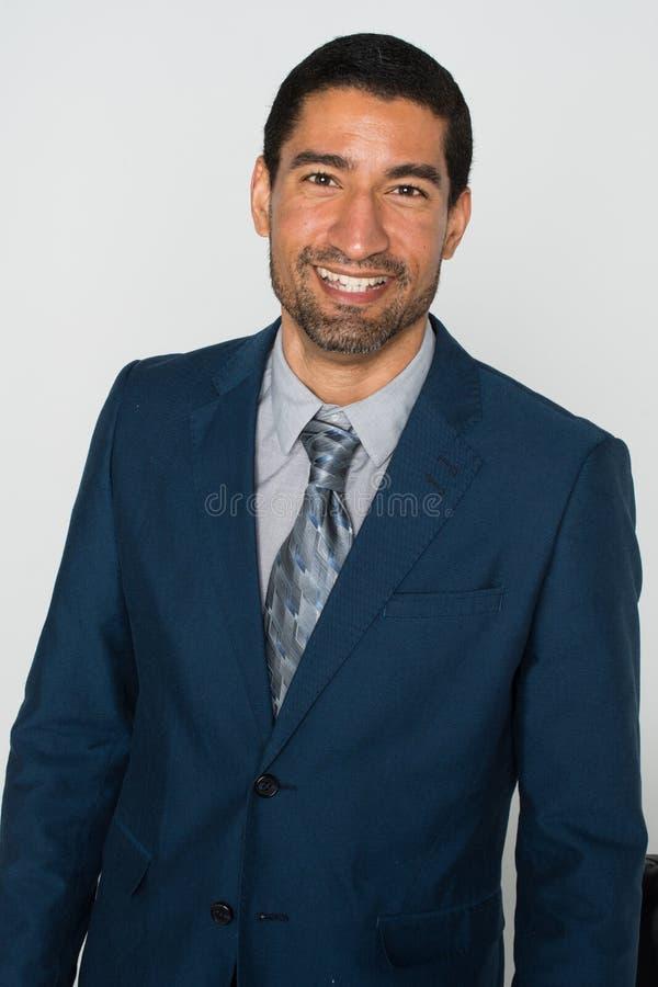 Biznesmen przy biurem zdjęcie stock