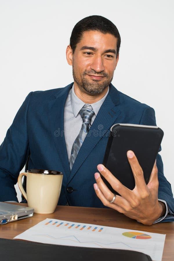 Biznesmen przy biurem obraz royalty free