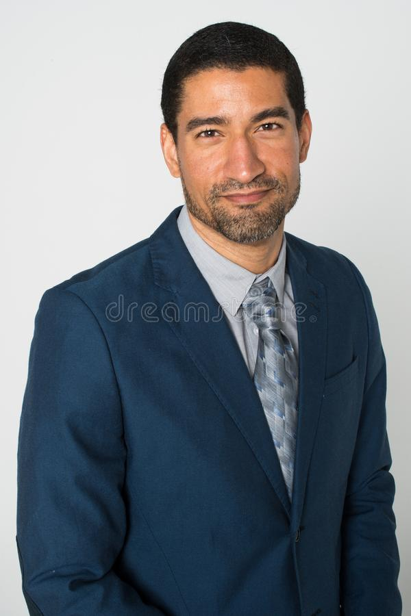 Biznesmen przy biurem zdjęcie royalty free