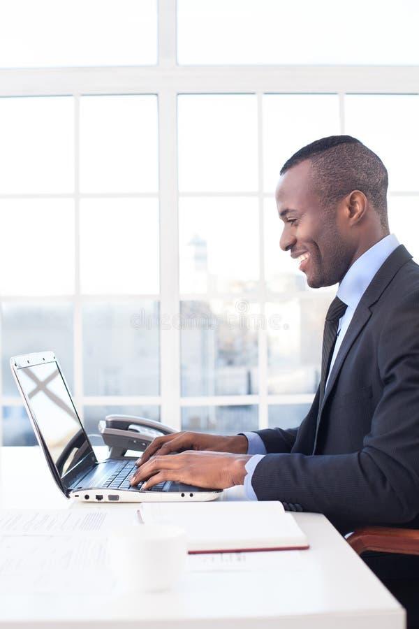 Biznesmen przy pracą. obrazy stock
