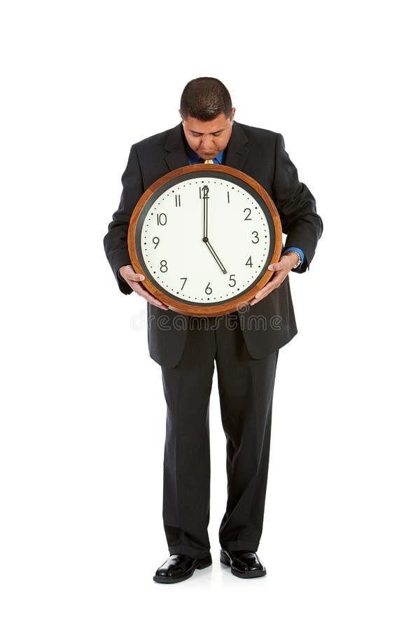 Biznesmen: Przygotowywający dla Rezygnować czas fotografia stock
