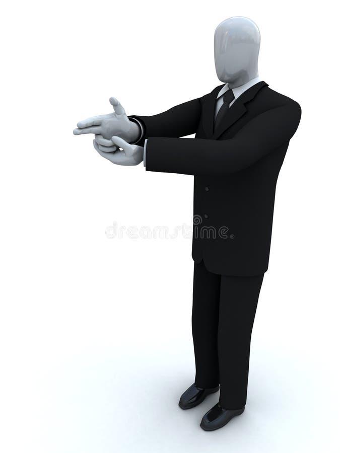 biznesmen przygotowywający krótkopęd zdjęcia royalty free