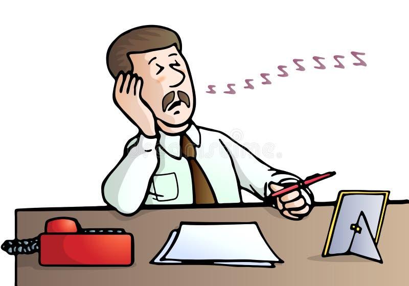 biznesmen przysypia ilustracja wektor