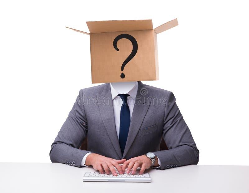 Biznesmen pyta pytania w biznesowym pojęciu zdjęcia royalty free