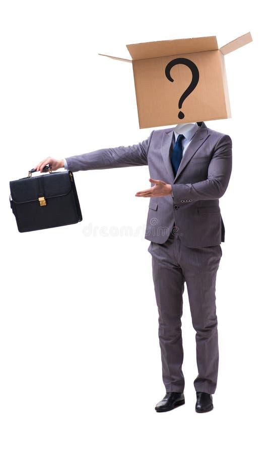 Biznesmen pyta pytania w biznesowym pojęciu obraz royalty free