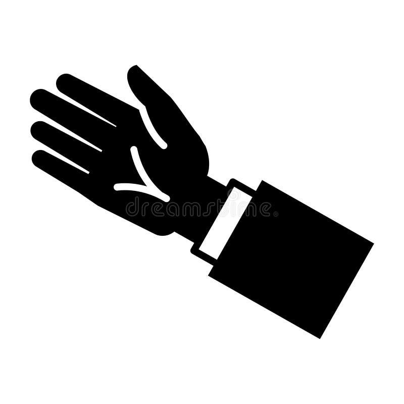 Biznesmen ręki ikona, prosty styl ilustracji