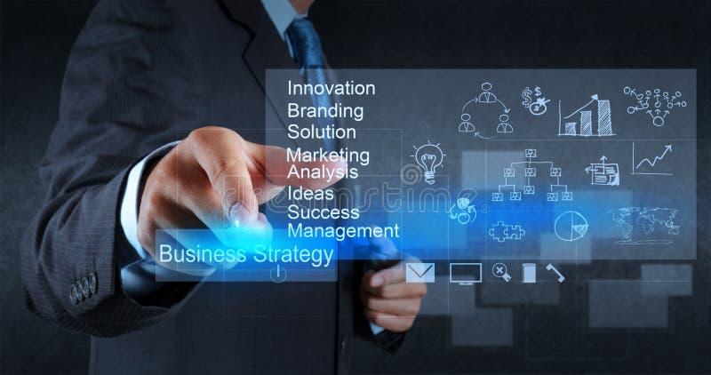 Biznesmen ręki punkty strategia biznesowa obrazy royalty free