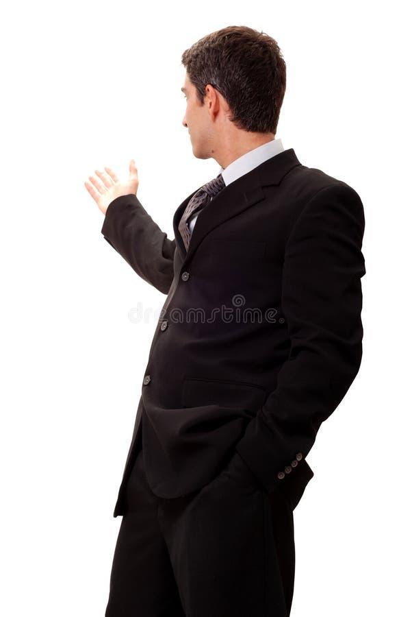 biznesmen robi prezentaci zdjęcia royalty free