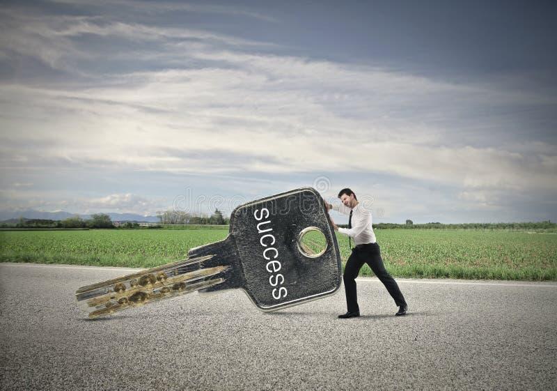 Biznesmen rusza się sukces zdjęcie stock