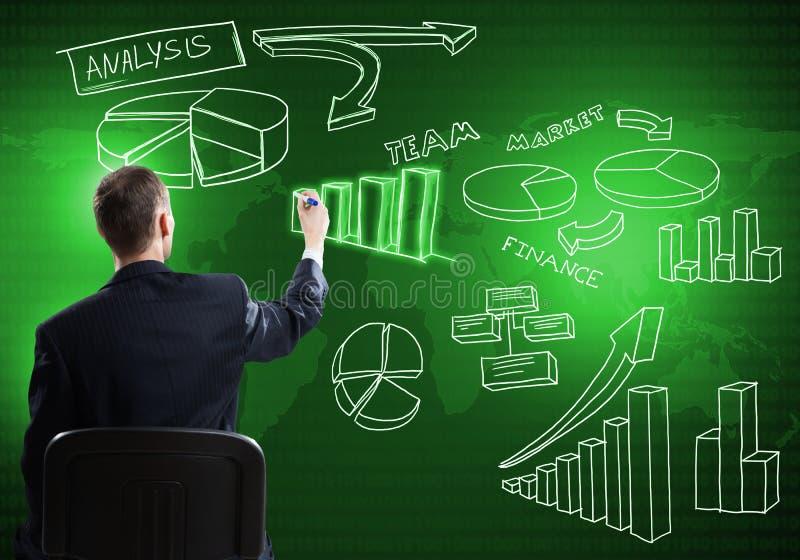 Biznesmen rysunkowa strategia biznesowa zdjęcie royalty free