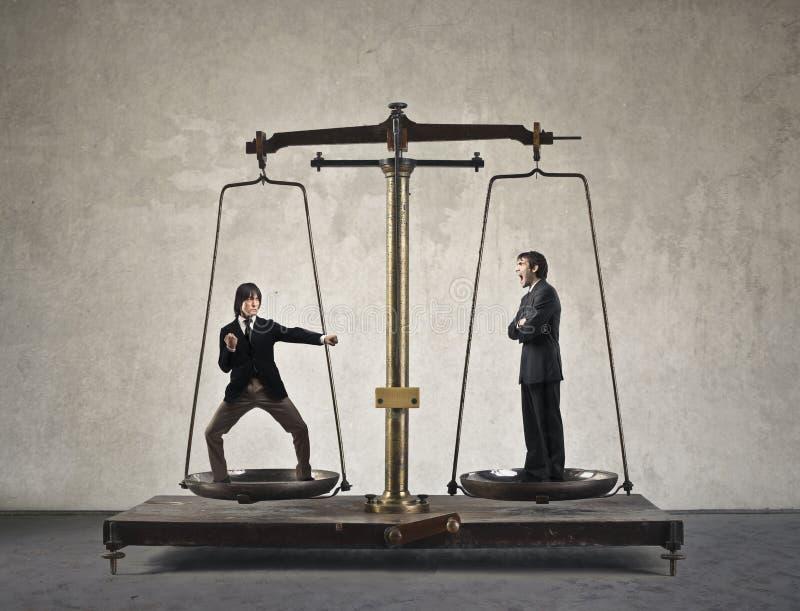 Biznesmen skala zdjęcie stock