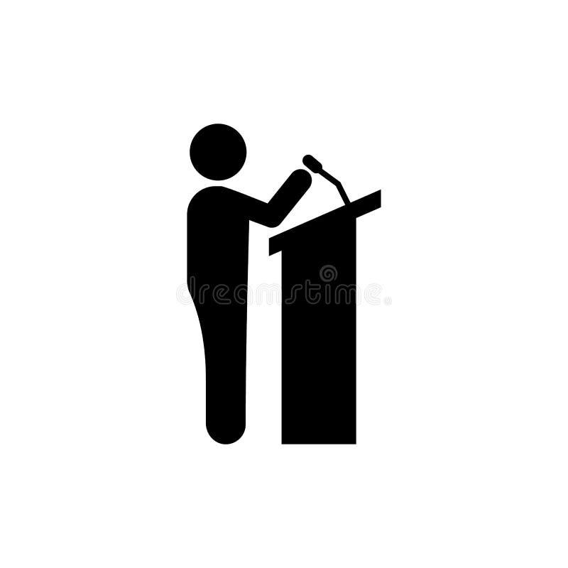 Biznesmen, spiker, konferencyjna ikona Element biznesmena piktograma ikona Premii ilo?ci graficznego projekta ikona znaki i ilustracji