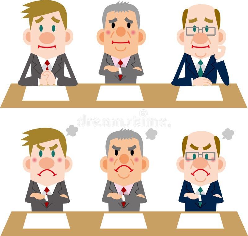 Biznesmen spotkania i wywiada royalty ilustracja