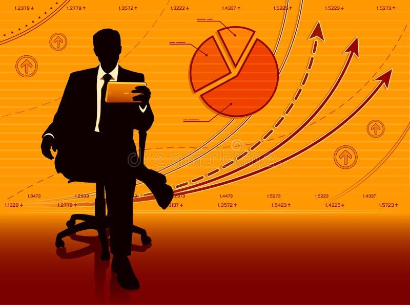 biznesmen sukces ilustracji