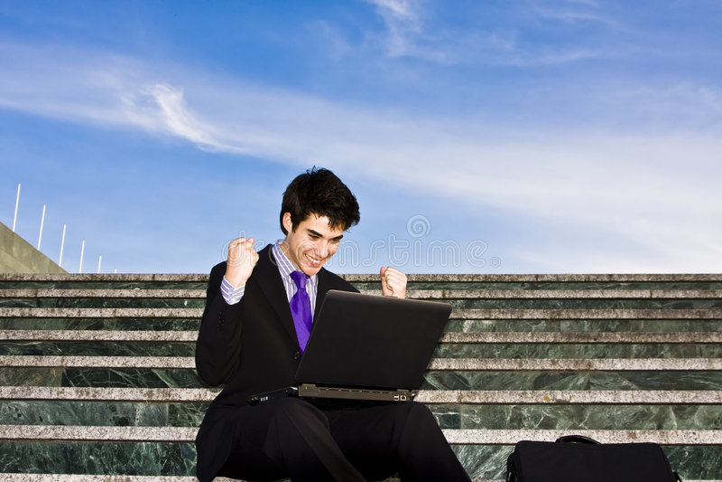 biznesmen sukces zdjęcia stock