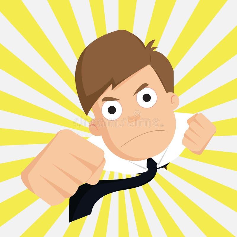 Biznesmen sukcesu biznes, Znakomity, pracownik ilustracja wektor