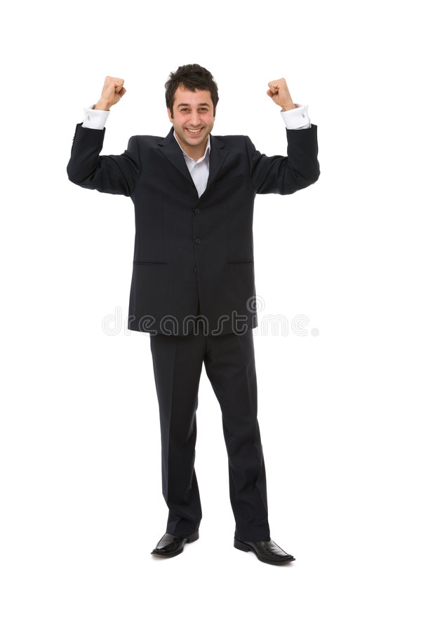 biznesmen szczęśliwy zdjęcia stock