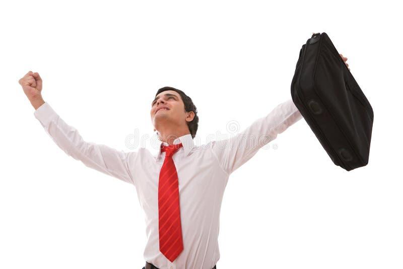 biznesmen szczęśliwy obrazy stock
