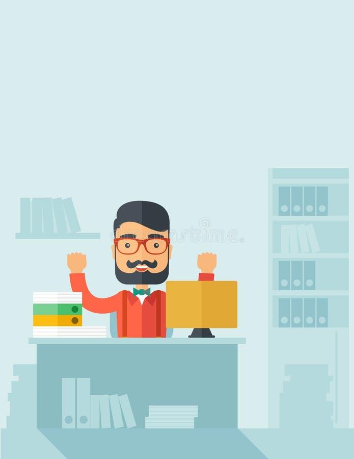 biznesmen szczęśliwy ilustracji