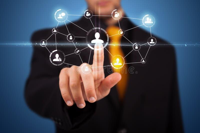 Biznesmen target262_1_ nowożytnego ogólnospołecznego typ ikony obrazy royalty free