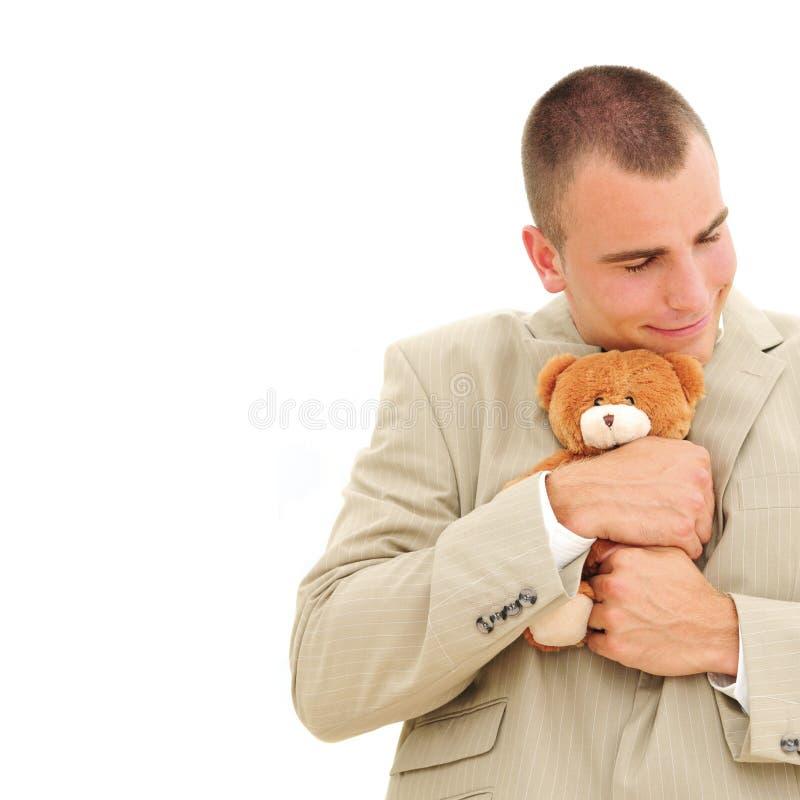 biznesmen teddybear obraz royalty free