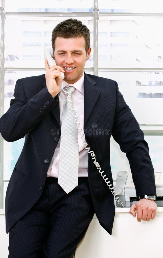 biznesmen telefon obrazy stock