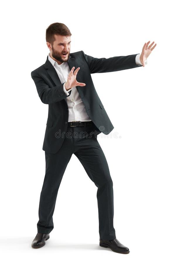 Biznesmen trzyma jego ręki fotografia royalty free